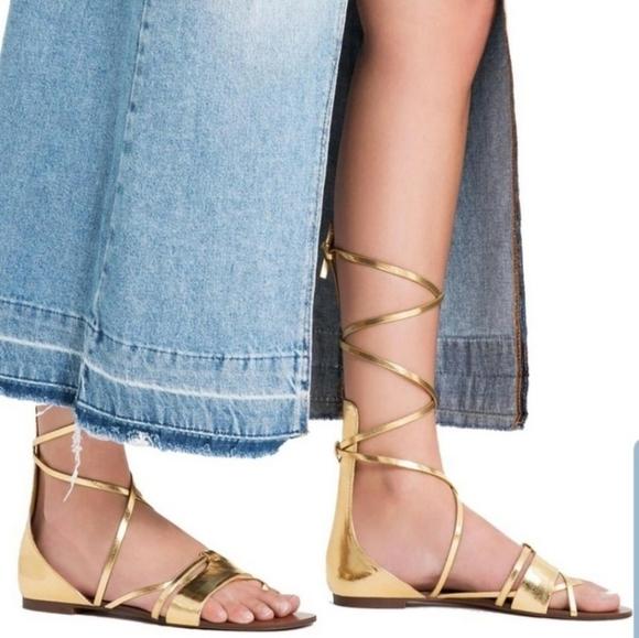 Zara Gold Gladiator Sandals